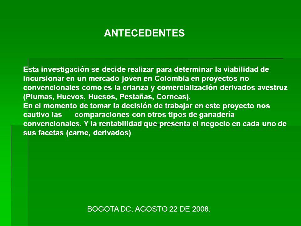 ANTECEDENTES Esta investigación se decide realizar para determinar la viabilidad de incursionar en un mercado joven en Colombia en proyectos no conven