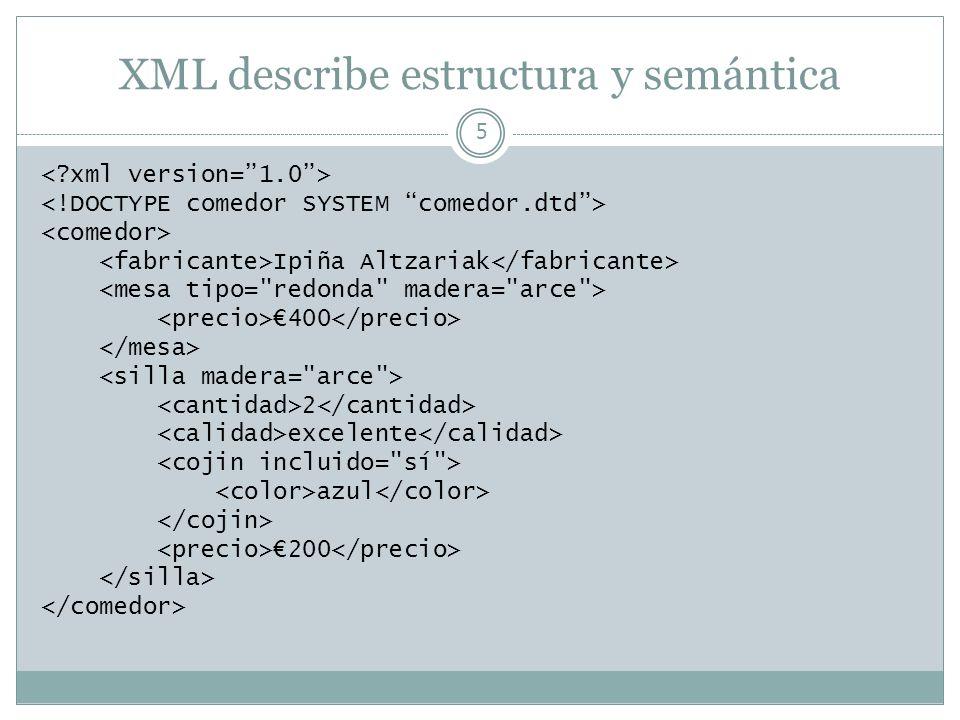 XML describe estructura y semántica 5 Ipiña Altzariak 400 2 excelente azul 200