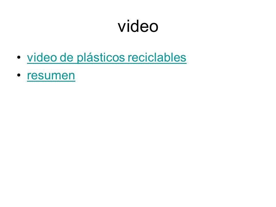 video video de plásticos reciclables resumen
