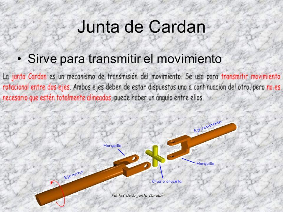 Junta de Cardan Sirve para transmitir el movimiento