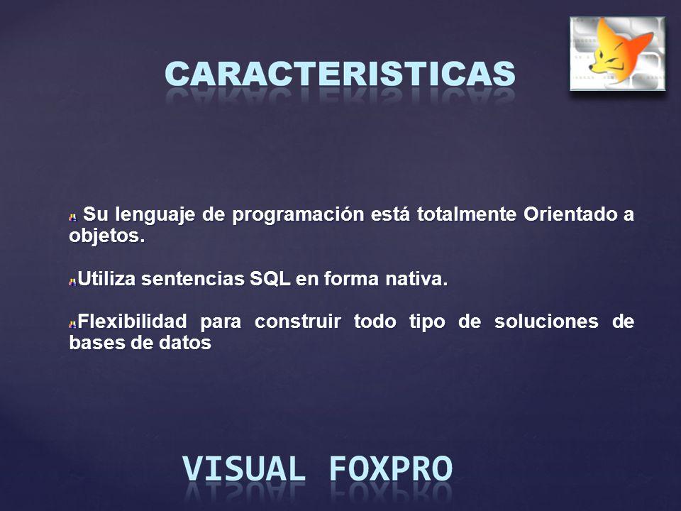 Su lenguaje de programación está totalmente Orientado a objetos. Su lenguaje de programación está totalmente Orientado a objetos. Utiliza sentencias S