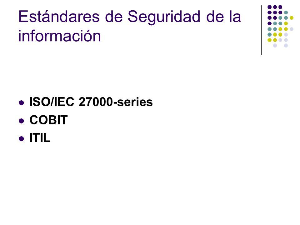 Estándares de Seguridad de la información ISO/IEC 27000-series COBIT ITIL