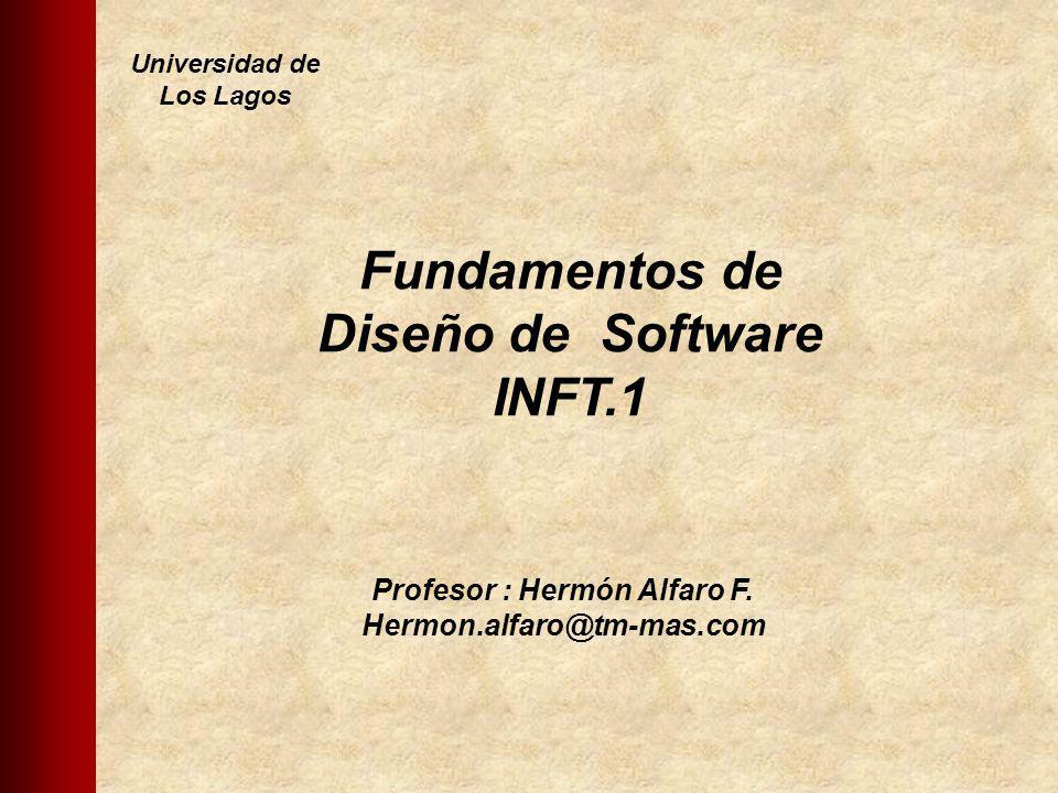 Profesor : Hermón Alfaro F. Hermon.alfaro@tm-mas.com Fundamentos de Diseño de Software INFT.1 Universidad de Los Lagos