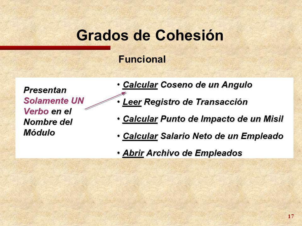 17 Grados de Cohesión Funcional