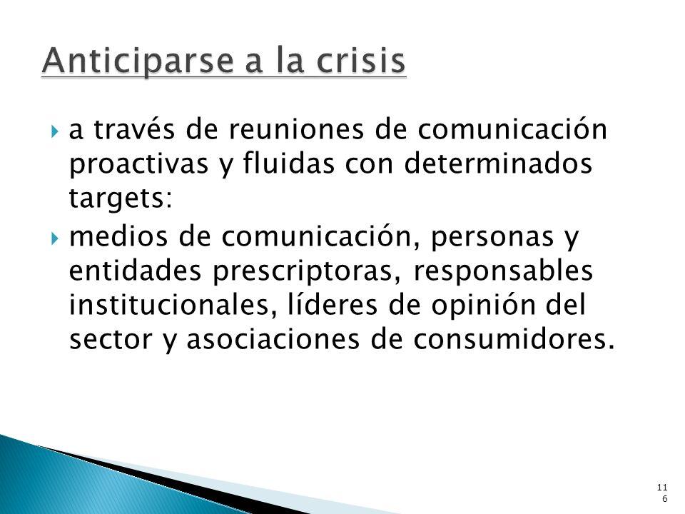 a través de reuniones de comunicación proactivas y fluidas con determinados targets: medios de comunicación, personas y entidades prescriptoras, respo