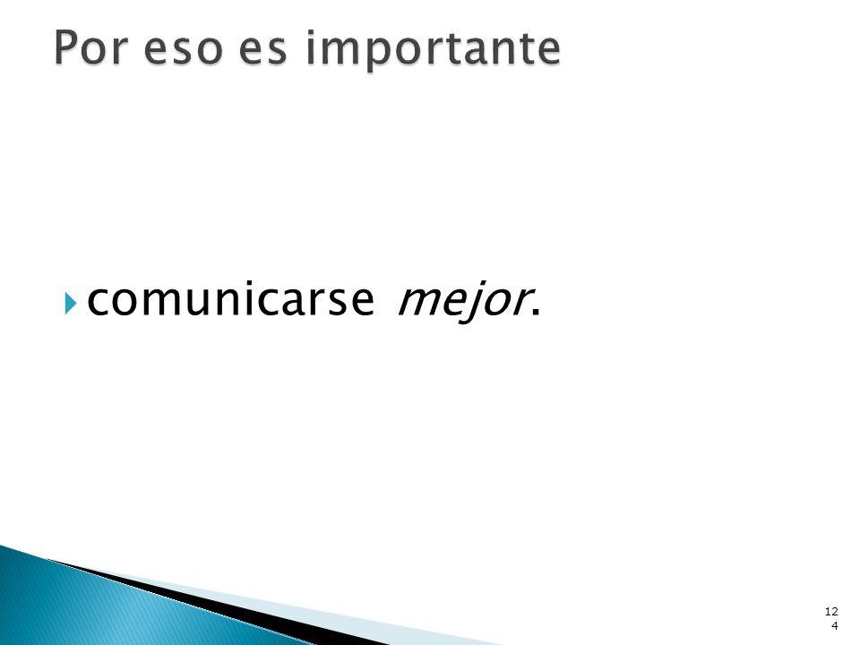 comunicarse mejor. 124