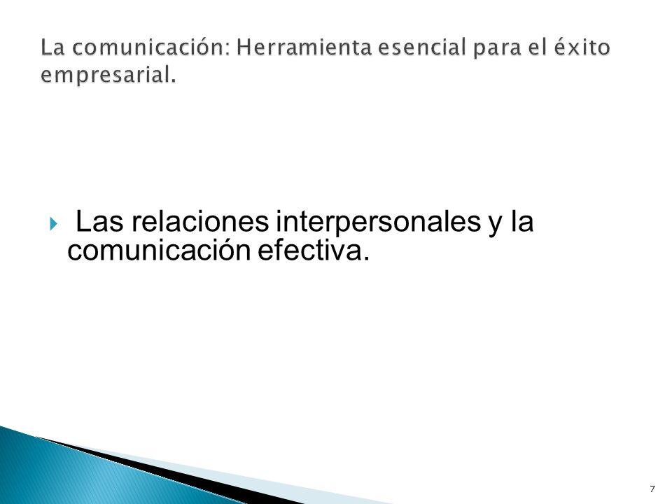 Las relaciones interpersonales y la comunicación efectiva. 7