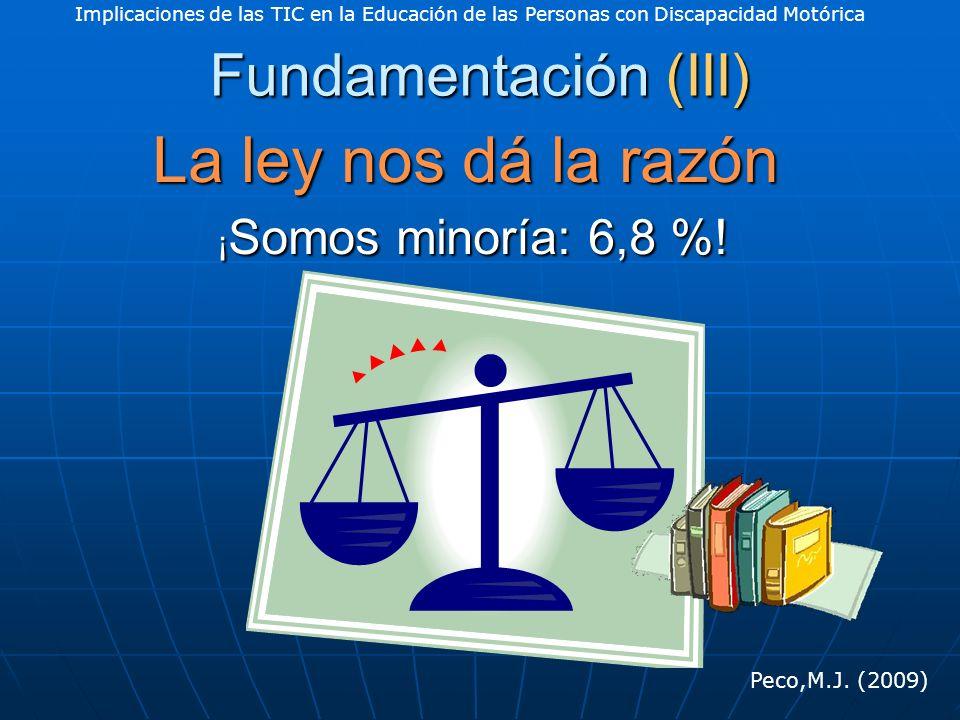 Implicaciones de las TIC en la Educación de las Personas con Discapacidad Motórica Peco,M.J.