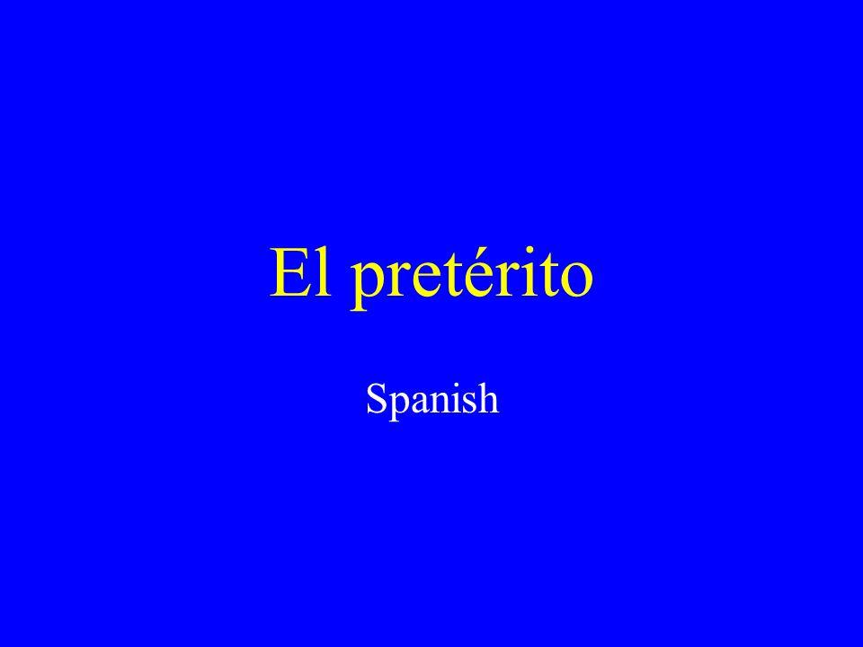 El pretérito Spanish