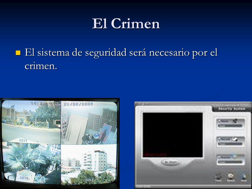 El Crimen El sistema de seguridad será necesario por el crimen. El sistema de seguridad será necesario por el crimen.