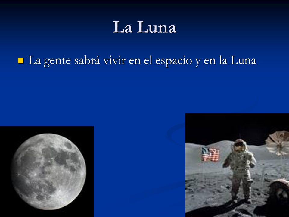 La Luna La gente sabrá vivir en el espacio y en la Luna La gente sabrá vivir en el espacio y en la Luna