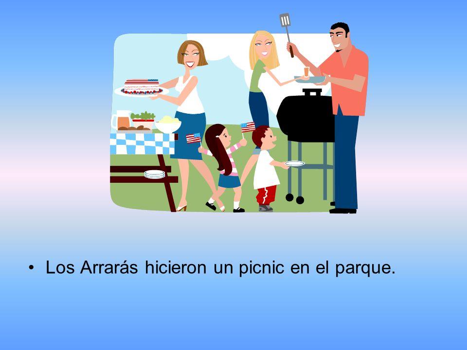Los Arrarás hicieron un picnic en el parque.