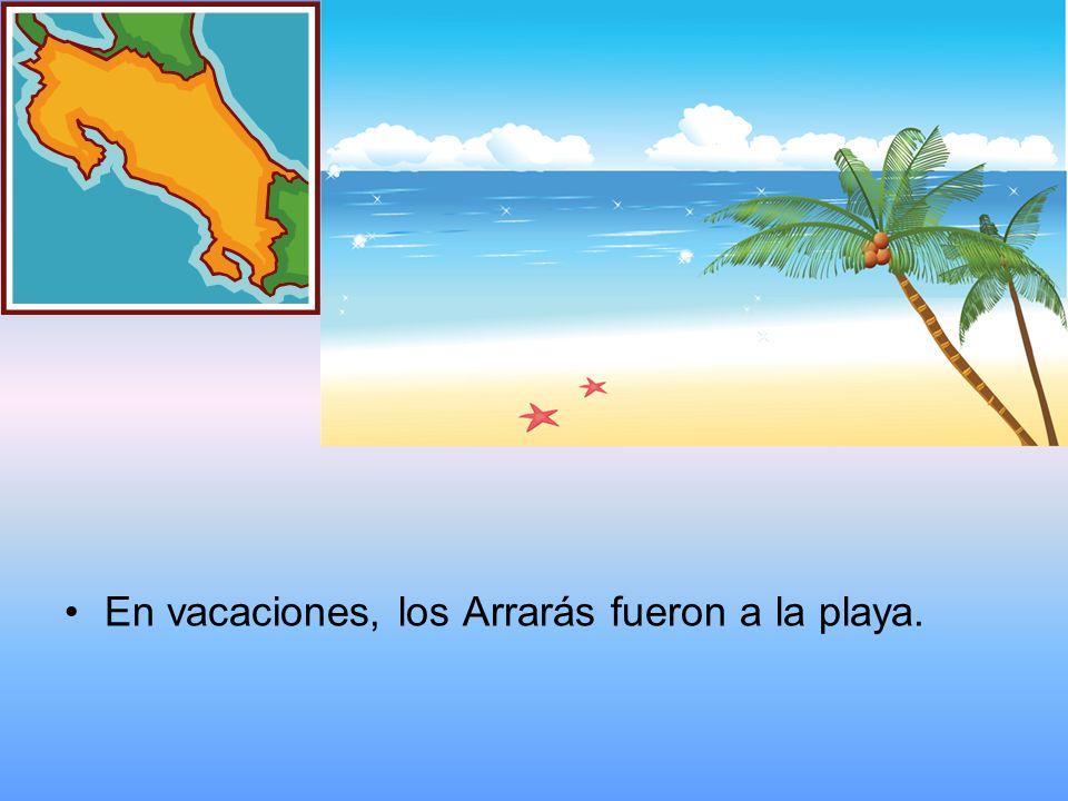 En vacaciones, los Arrarás fueron a la playa.