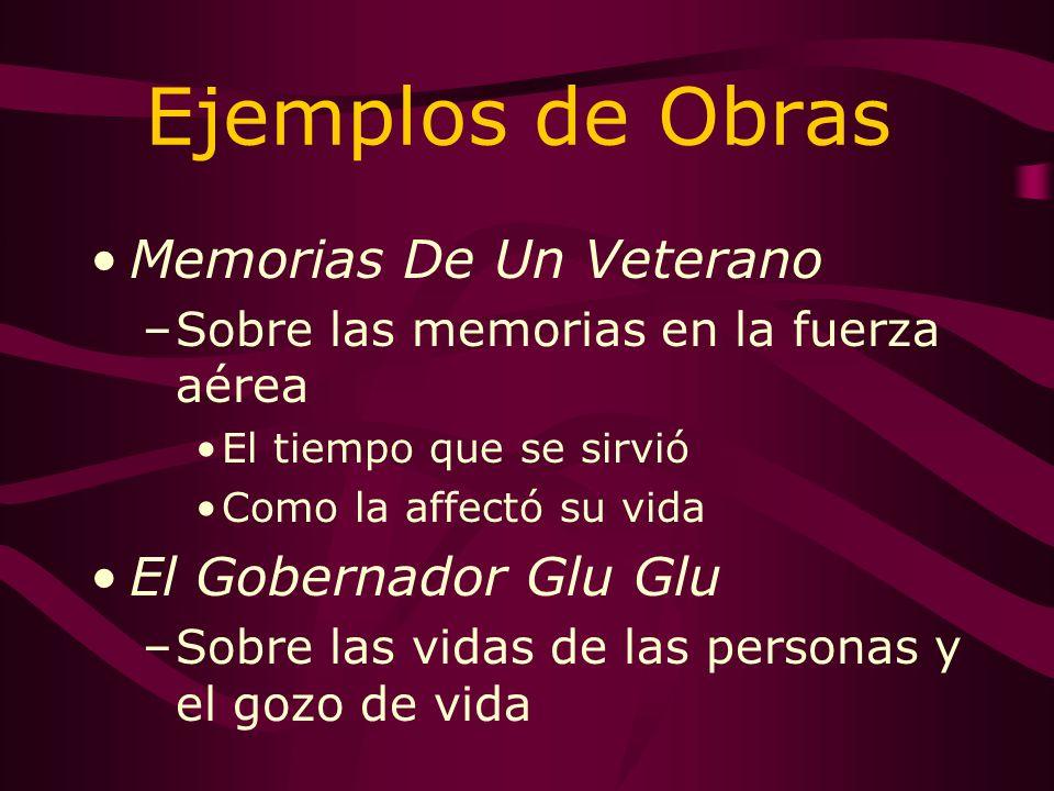 Las Obras Sobre las memorias de niño Escenario –Variedad de paisajes –Los países hispano hablantes