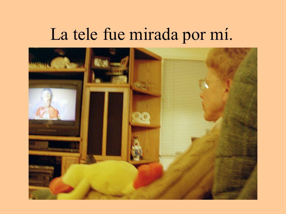 La tele fue mirada por mí.
