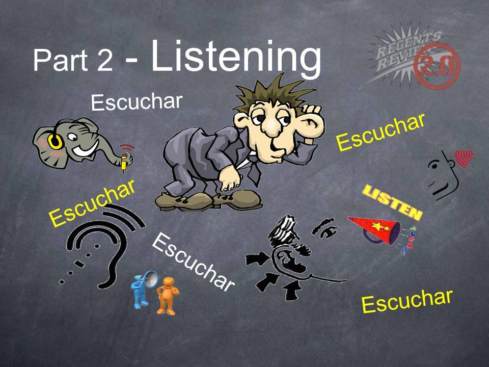 Part 2 - Listening Escuchar