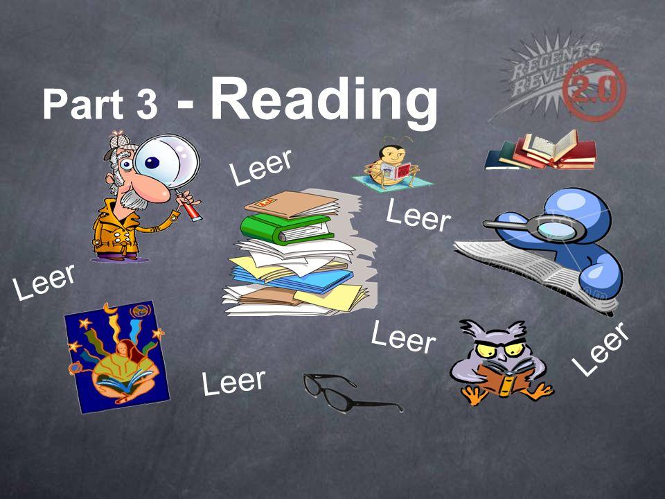Part 3 - Reading Leer