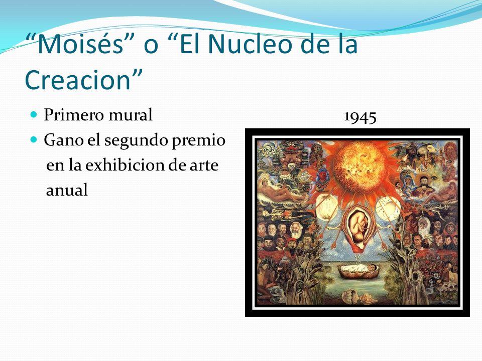 Moisés o El Nucleo de la Creacion Primero mural 1945 Gano el segundo premio en la exhibicion de arte anual