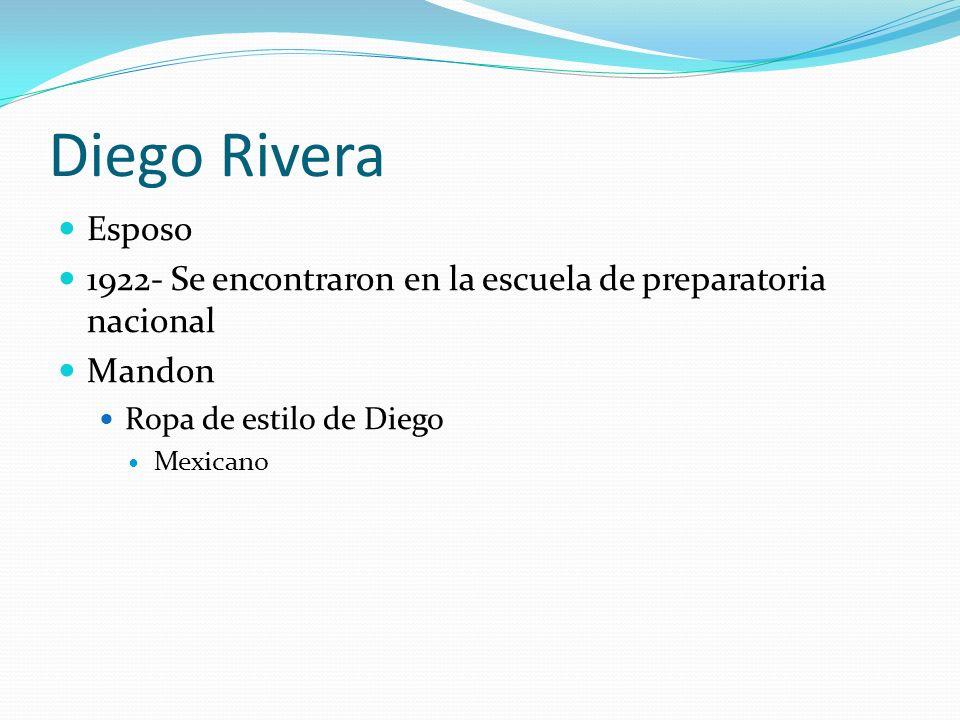 Diego Rivera Esposo 1922- Se encontraron en la escuela de preparatoria nacional Mandon Ropa de estilo de Diego Mexicano