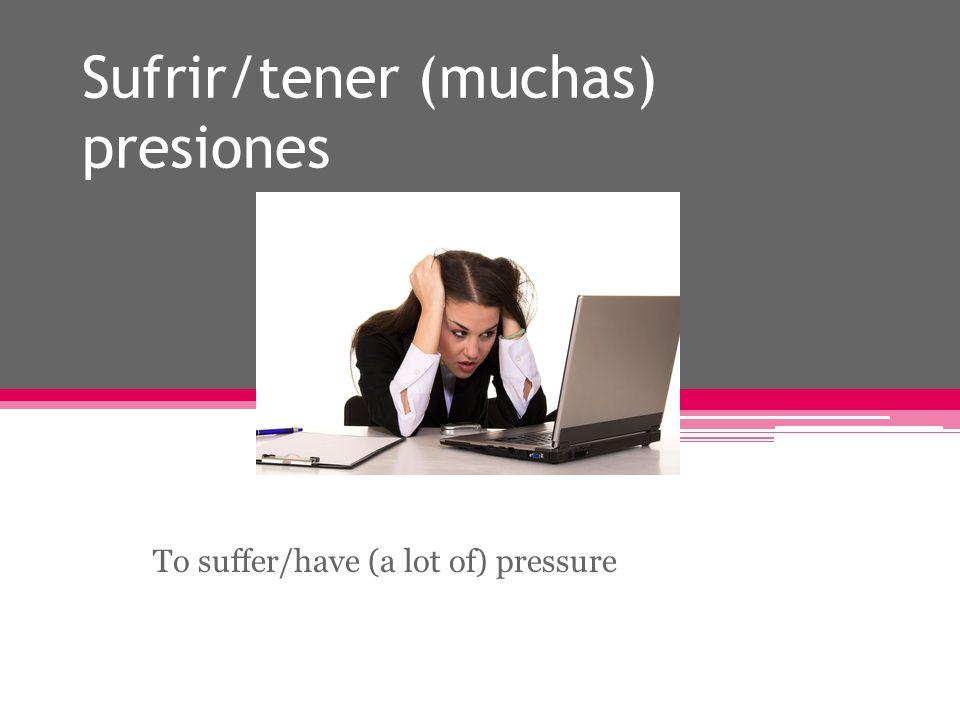 Estar (muy) estresado/a To be very stressed