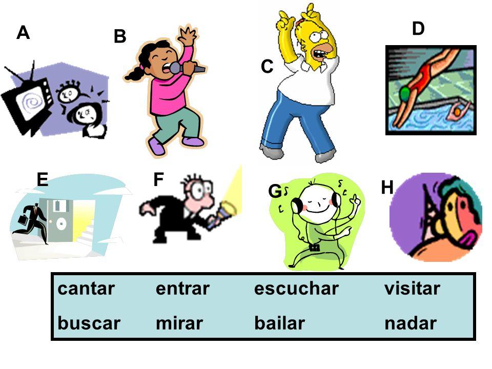 como comes come comemos coméis comen -o -es -e -emos -éis -en The present tense – ER verbs ejemplo: comer = to eat verb endings