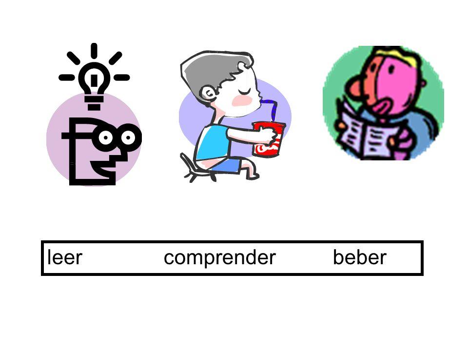 vivo vives vive vivimos vivís viven -o -es -e -imos -en The present tense – IR verbs ejemplo: vivir = to live verb endings -ís-ís