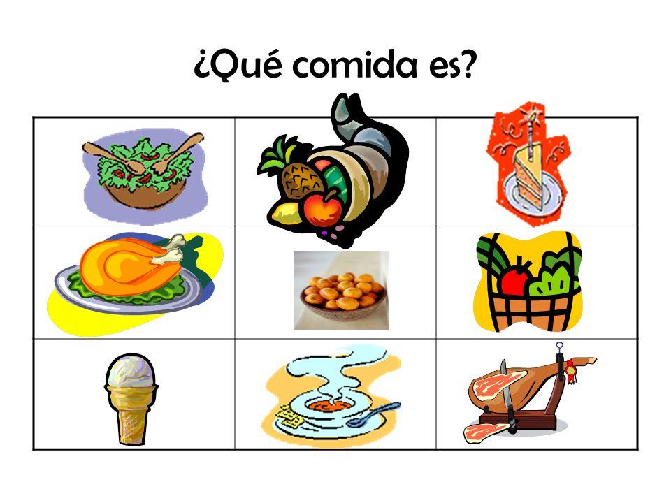 ¿Qué comida es?