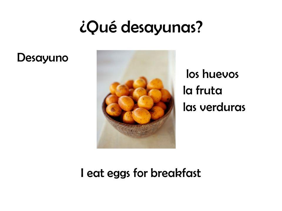 ¿Qué desayunas? Desayuno los huevos la fruta las verduras I eat eggs for breakfast