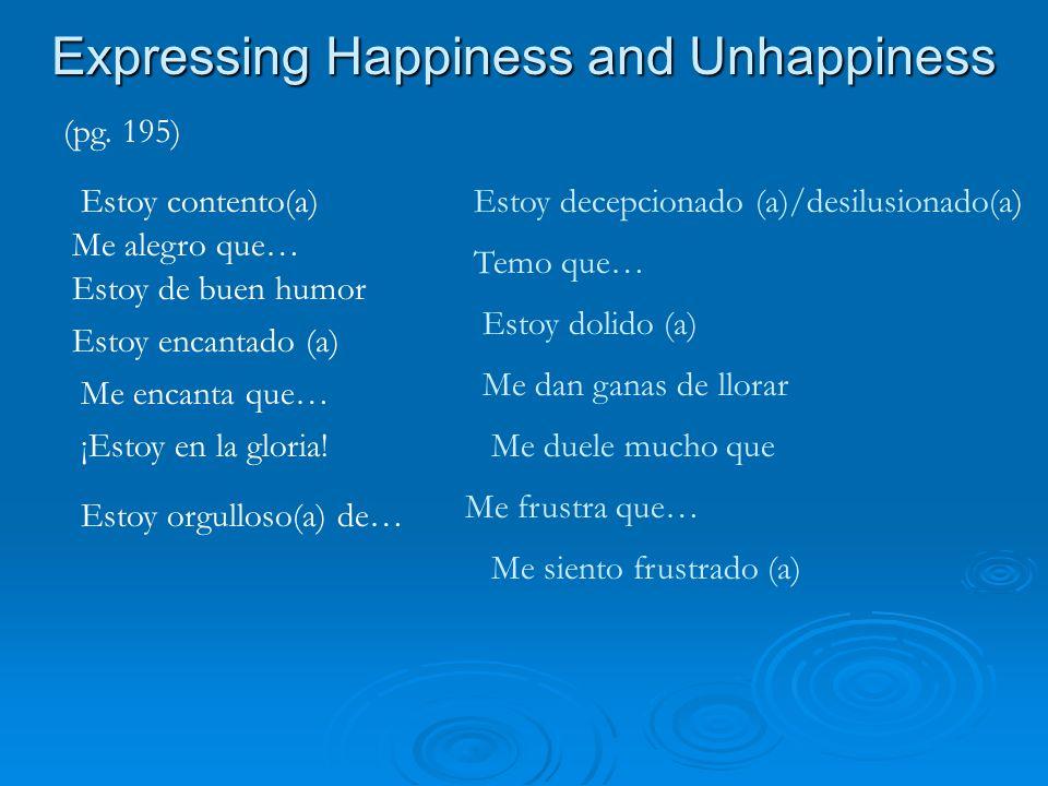 Vocabulario Nuevo Describing an ideal relationship (pg.