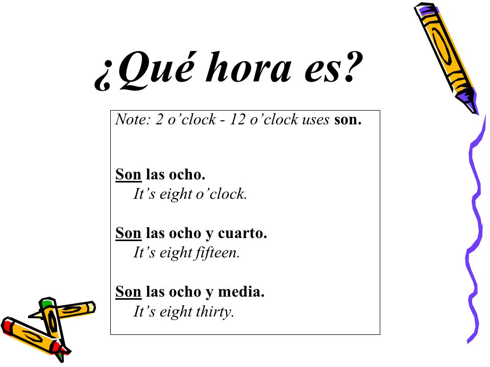 Time of Day de la mañana de la tarde de la noche in the morning (a.m.) in the afternoon (p.m.) in the evening (p.m.)