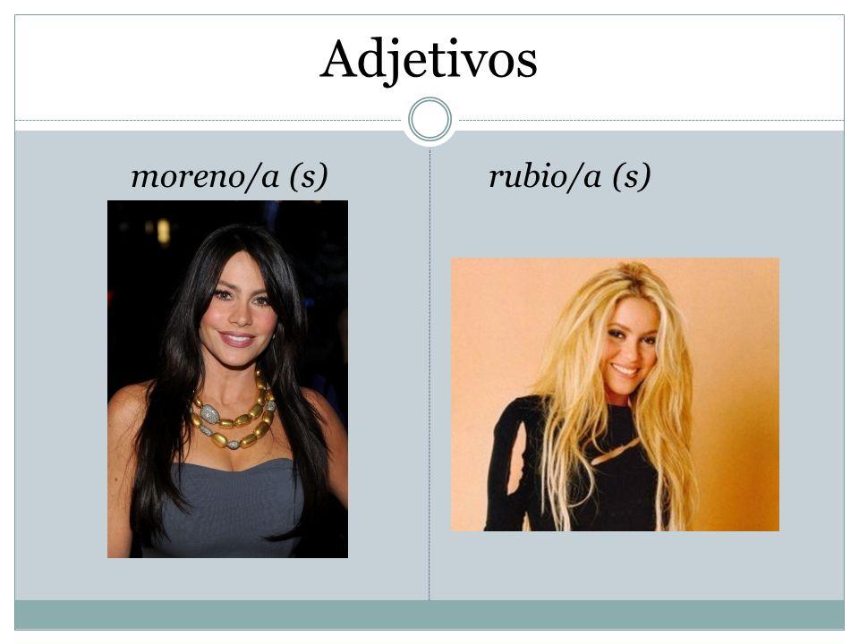 Adjetivos moreno/a (s)rubio/a (s)