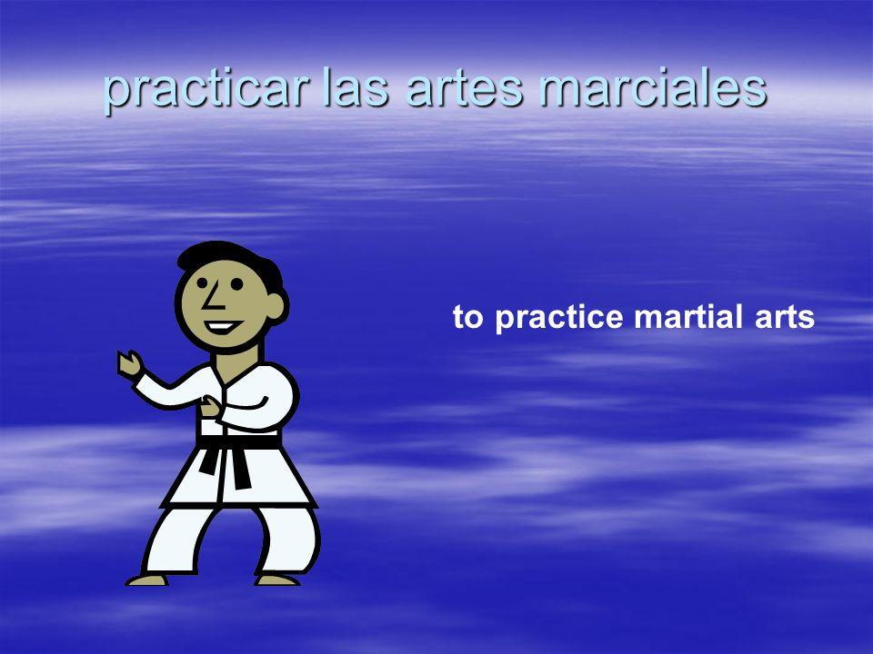 practicar las artes marciales to practice martial arts