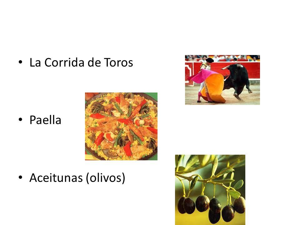 La Corrida de Toros Paella Aceitunas (olivos)