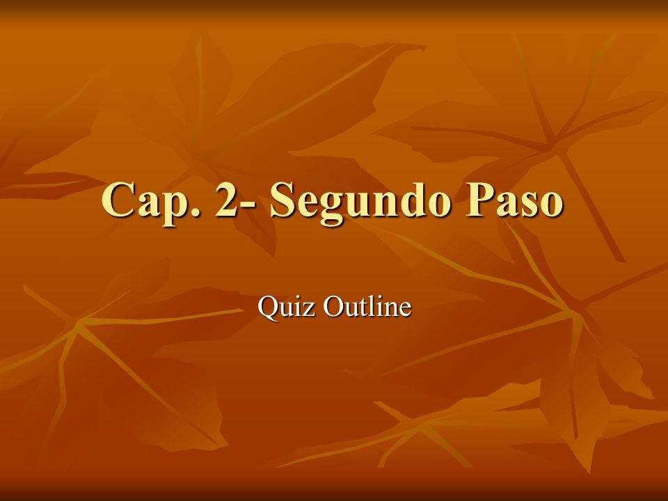 Segundo Paso- Parte A You will be given a calendar.