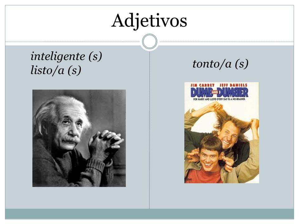 Adjetivos antipático/a (s) malo/a (s) bueno/a (s) simpático/a (s)