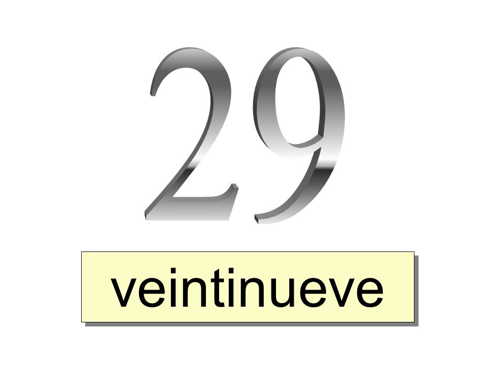 veintinueve