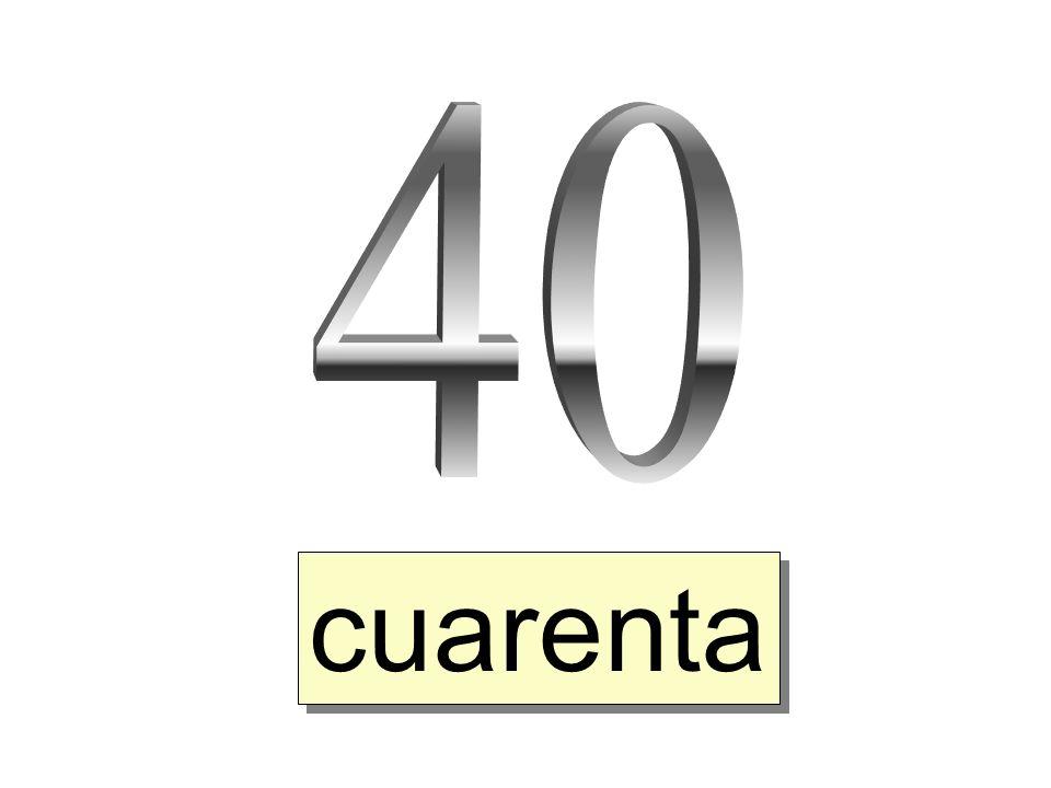 cuarenta