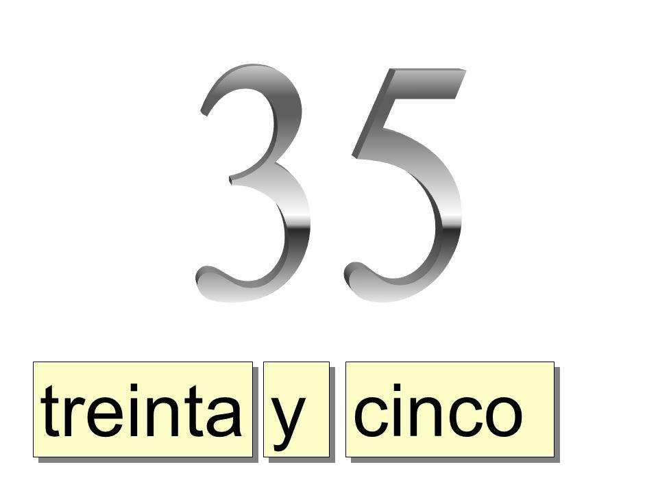 treinta y y cinco