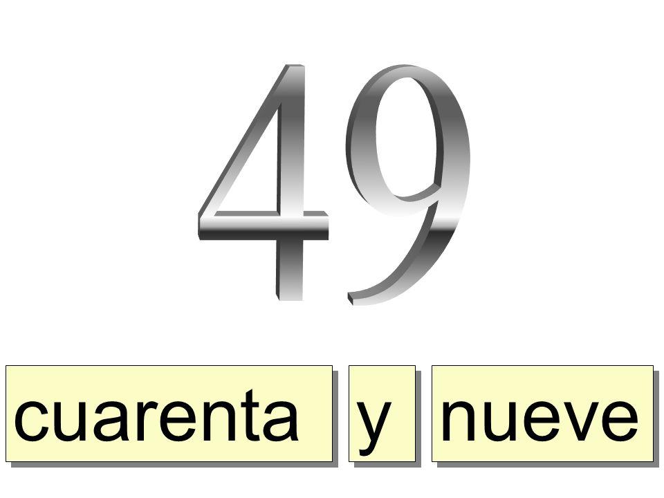 cuarenta y y nueve