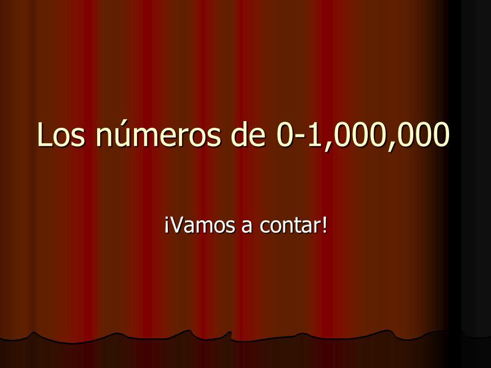 Los números de 0-1,000,000 ¡Vamos a contar!