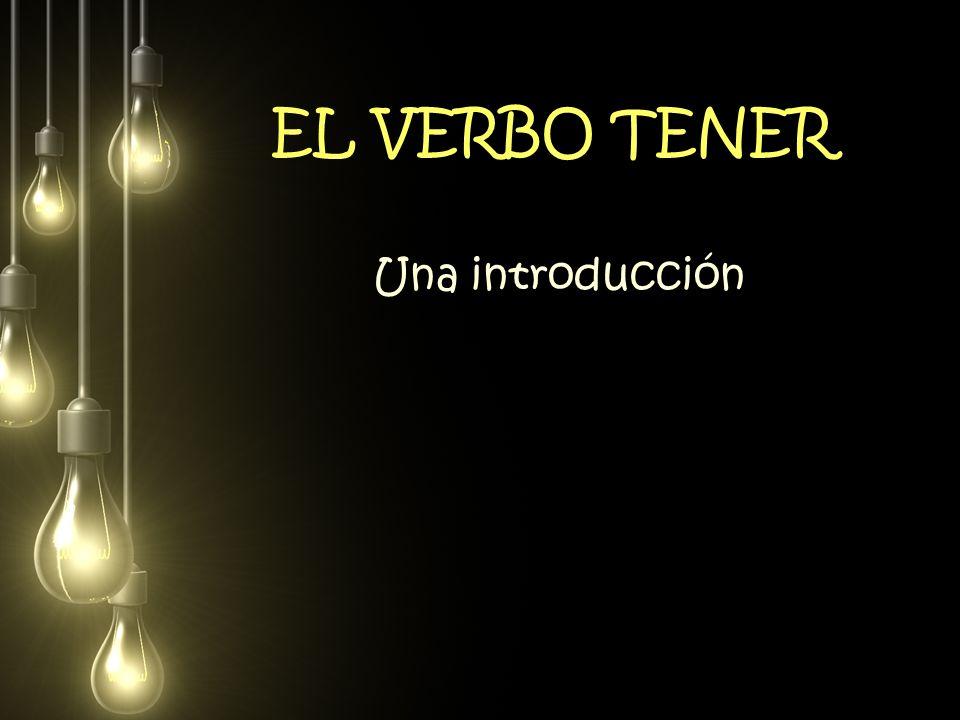 EL VERBO TENER Una introducción