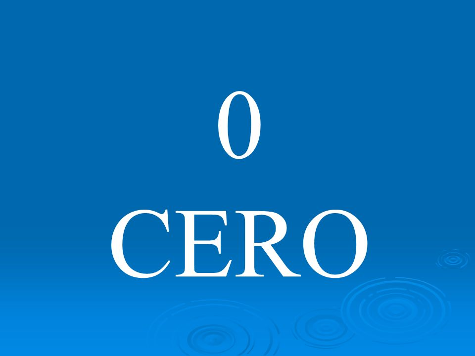 0 CERO