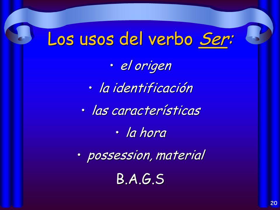 19 ¿Cuáles son los usos de estos verbos