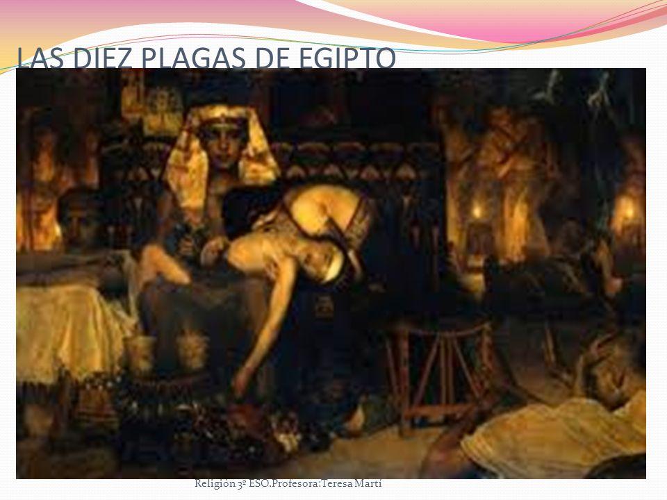LAS DIEZ PLAGAS DE EGIPTO Religión 3º ESO.Profesora:Teresa Martí