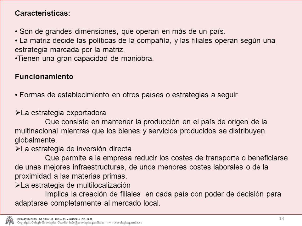 DEPARTAMENTO DE CIENCIAS SOCIALES – HISTORIA DEL ARTE Copyright Colegio Escolapias Gandia info@escolapiasgandia.es www.escolapiasgandia.es 13 Caracter