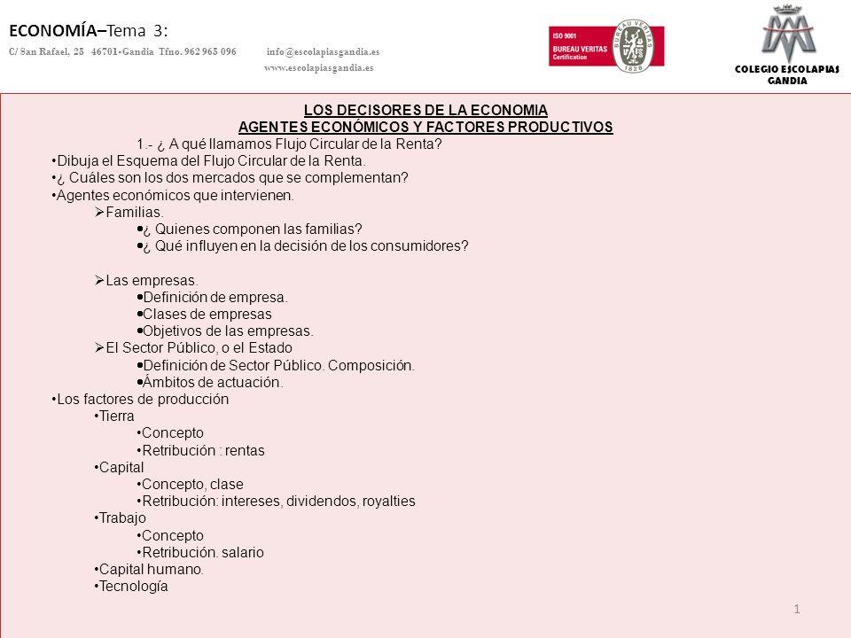 12 DEPARTAMENTO DE CIENCIAS SOCIALES – ECONOMÍA Copyright Colegio Escolapias Gandia info@escolapiasgandia.es www.escolapiasgandia.es Los ingresos del Estado: Proceden de los impuestos.