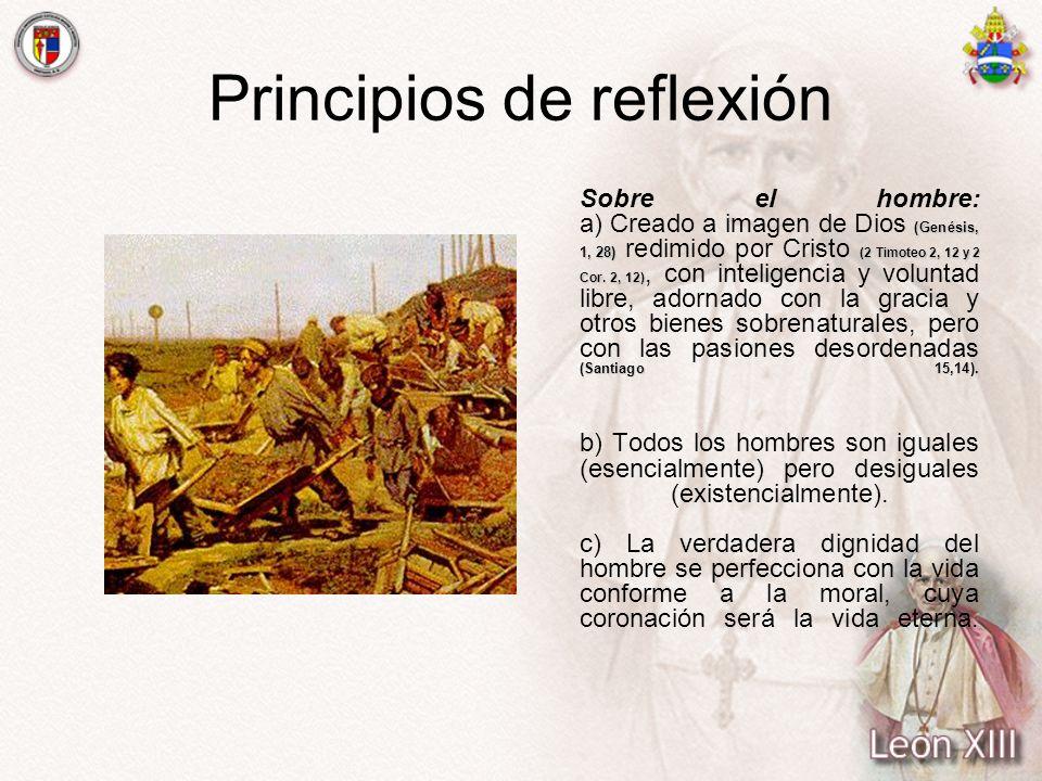 Principios de reflexión (Genésis, 1, 28) (2 Timoteo 2, 12 y 2 Cor. 2, 12) (Santiago 15,14). Sobre el hombre: a) Creado a imagen de Dios (Genésis, 1, 2