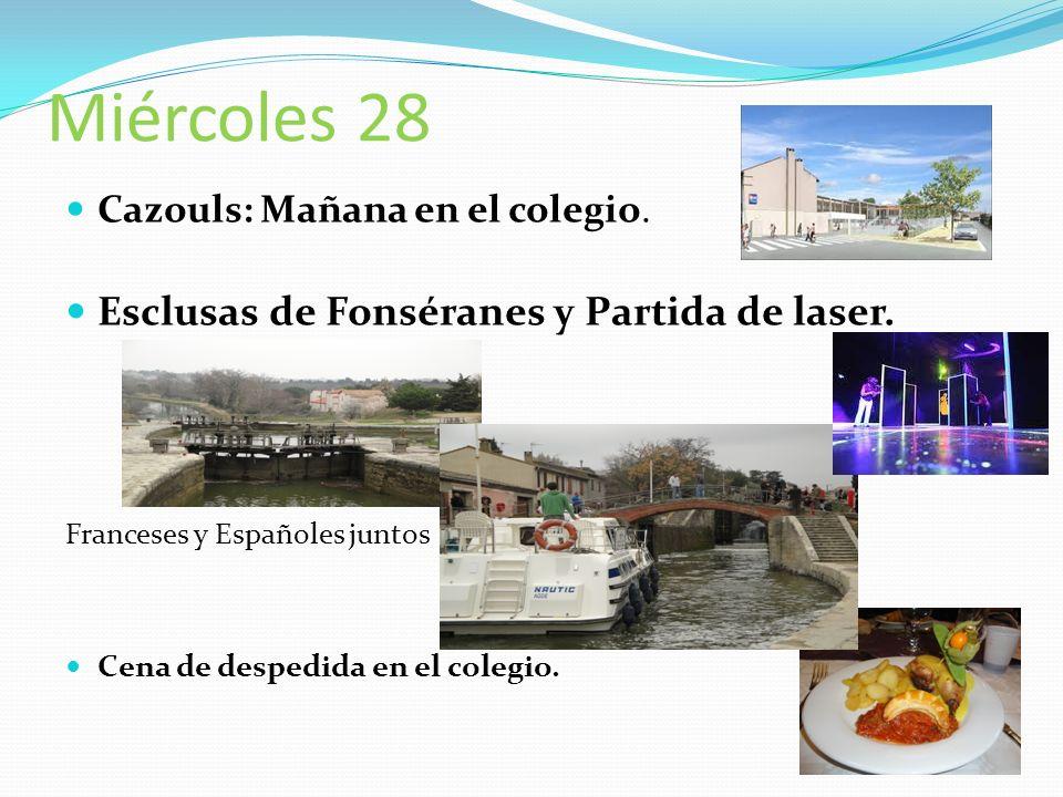 Jeudi 29 8h00: Colegio Salida para Mazarrón. 21h00??: Llegada al IES Domingo Valdivieso..