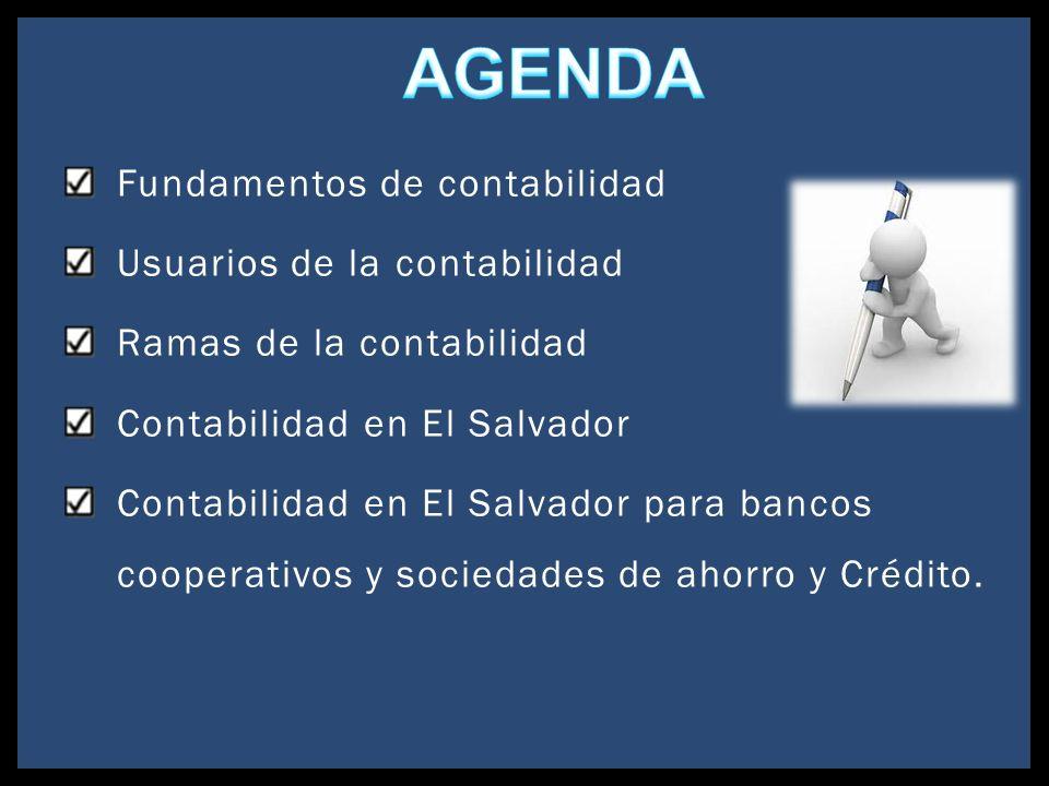 Fundamentos de contabilidad Usuarios de la contabilidad Ramas de la contabilidad Contabilidad en El Salvador Contabilidad en El Salvador para bancos c