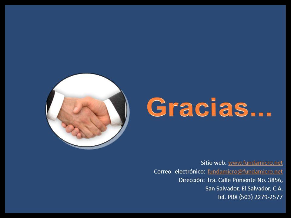 Sitio web: www.fundamicro.netwww.fundamicro.net Correo electrónico: fundamicro@fundamicro.netfundamicro@fundamicro.net Dirección: 1ra. Calle Poniente